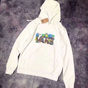 CREYUP0 VANS Woman Men Print Fashion Hoodie Top Sweater Pullover
