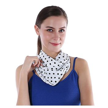 70x70cm Chiffon Square Neck Head Scarf for Women Polka Dot Stain Fabric Head Scarf Bandana Women Office Brand Scarf for Ladies