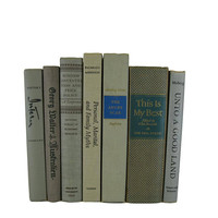 Tan Taupe Decorative Books,Cloth Covers