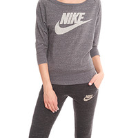 Nike 3/4 Sleeve Logo Sweater