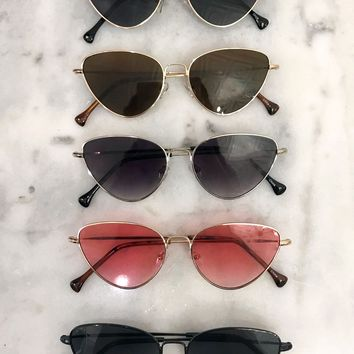 Cat-Eye Metal Frame Sunglasses