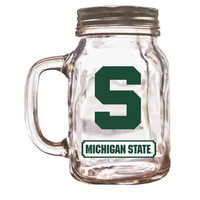 16Oz Mason Jar Michigan State