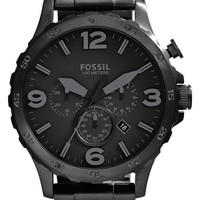 Men's Fossil 'Nate' Compass Chronograph Bracelet Watch, 50mm
