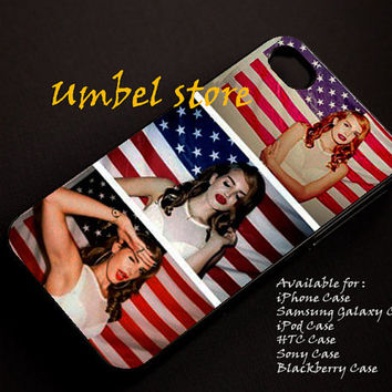 Lana del rey sexy american For iPhone 4/4S/5/5S/5C, Samsung Galaxy S3/S4, iPod Touch 4/5, htc One X/x+/S Case