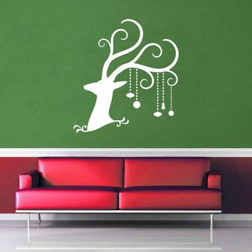 Deer - Christmas Decoration - Wall Decal - No 2$8.95