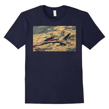 Vintage Distressed Military Air Force Pilot Graphic T-Shirt