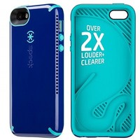 Speck Products CandyShell Amped Sound Amplification Case for iPhone 5/5S - Cadet Blue/Caribbean Blue