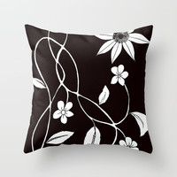 Flower Throw Pillow by darcyarts