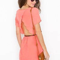 Scalloped Cutout Dress in Clothes Dresses at Nasty Gal