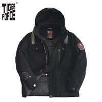 TIGER FORCE Padded Winter cotton Coat jacket c s With Hood Size 7937