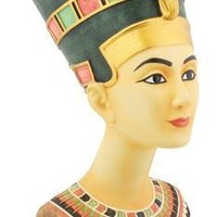 Nefertiti Egyptian Queen Portrait Bust Statue 9H