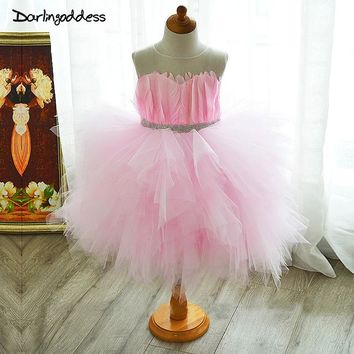 Sexy Flower Girl Dresses for Wedding Tulle Holy Communion Dress for Girls Bay Children Mother Daughter Kids Evening Gowns 2017