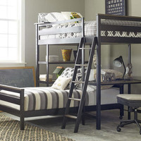 Denali Twin Size Wood and Metal Loft Bed