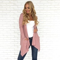 Just A Little Bit Cardigan in Pink