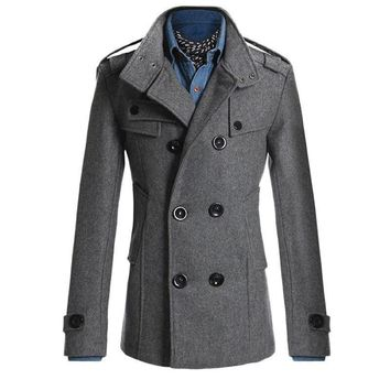 Men Winter Autumn Trench Coats  Slim Fit Business Formal