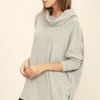 Black Swan Elle Light Grey Sweater Top