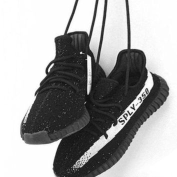 Adidas Women Yeezy Boost Sneakers Running Sports Shoes SPYL-350 Black white