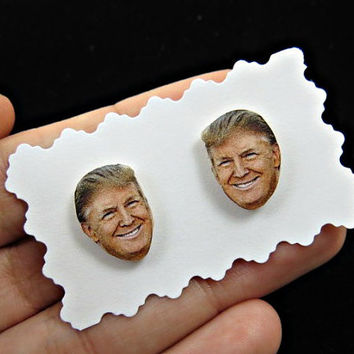 Donald Trump Face Earrings - Donald Trump earrings - Donald Trump funny faces - presidential election 2016 - candidates 2016