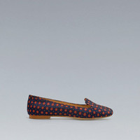 PRINTED SILK SATIN SLIPPER - Shoes - Woman - New collection - ZARA United States