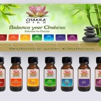 7 Chakra Oils Essential Oils Kit (Herbal) Set of 7 Oil Bottles (0.5 oz/15ml) each