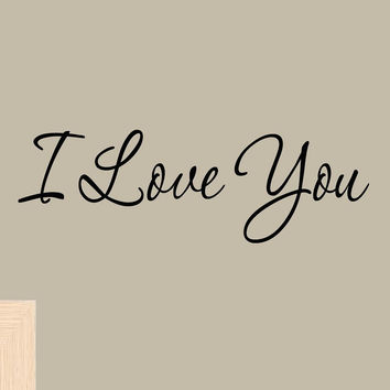 I Love You Wall Decal Quotes Home Decor Sayings Wall Decals Wife Husband Coup...