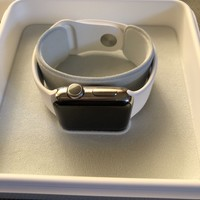 Apple Watch Series 2 - 38mm Stainless Steel Case White Sports Band w/AppleCare