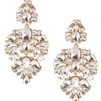 Belle Badgley Mischka Pavo Real Chandelier Statement Earrings | Dillards