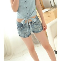 Belle denim shorts