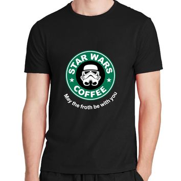 customized fitness streetwear men's t-shirts cotton casual fashion brand clothing Hot sale hip hop Cool star war T Shirt homme