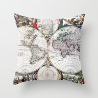 Bormeester Map of the World Throw Pillow by Jbjart | Society6
