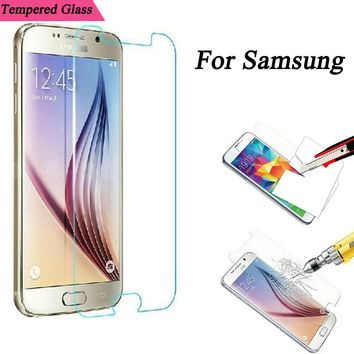 For Samsung Galaxy Grand Prime Alpha Win Tempered Glass Screen Protector Case Protective Film for Galaxy Note 2 3 4 5 J1 J5 J7