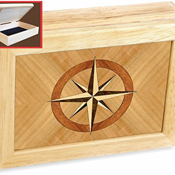 Compass Rose Box -Original Work of Wood Art -Unmatched Quality -Handmade in USA