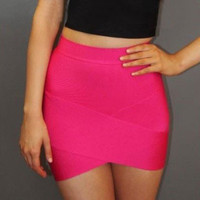 Bandage Arched Mini Skirt