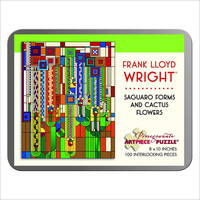 Frank Lloyd Wright Saguaro and Cactus Flowers 100 Piece Jigsaw Puzzle