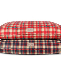 Personalized Plaid Dog Bed
