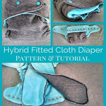 Cloth Diaper Pattern and Tutorial - OS Hybrid Fitted Style - Instant Download - In Depth 21 Page Step by Step