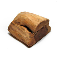 Freedom - Sloboda - Yew Rustic Natural Wooden Personalized Ring Box by Tanja Sova