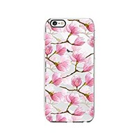 Magnolia Floral Flower Pattern Transparent Silicone Plastic Phone Case for iphone 7PLUS _ LOKIshop (iphone 7 plus)