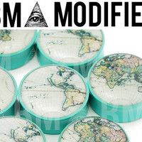 "World Map BMA Modified Plugs 7/16"" (11mm) Pair"