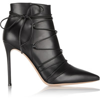 Gianvito Rossi - Lace-up leather ankle boots