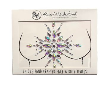 Twilight Heart Iridescent Self-Adhesive Chest Jewels