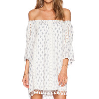 Tularosa Sara Dress in White & Navy