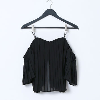 Truly Lovely Deeply Crop Top Black