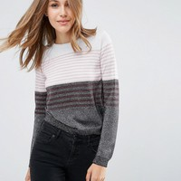 ASOS Jumper in Metallic Stripe