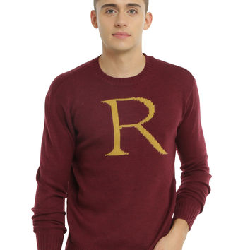 Harry Potter Ron Weasley Intarsia Pullover Sweater