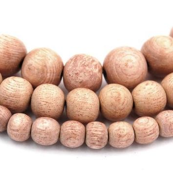 Rosewood Beads 6mm, 8mm, 10mm natural wood beads -16 inch strand