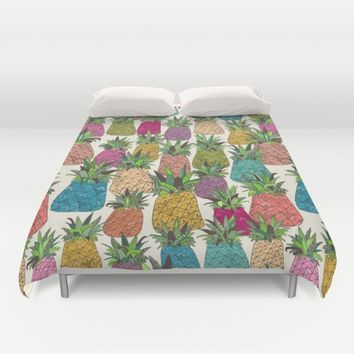 West Coast pineapples Duvet Cover by Sharon Turner | Society6