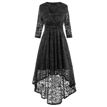 Elegant hollow out sexy dress Plus size fishtail lace women dress Sexy V neck embroidery slim midi party dress vestidos