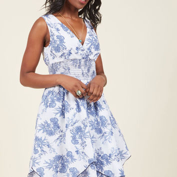 Terrace Flair Floral Midi Dress