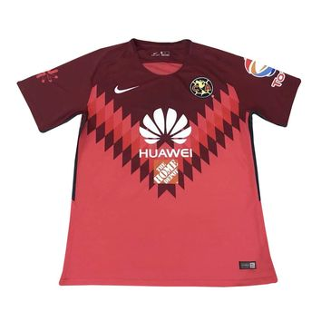 KUYOU Mexico Club America 2018 Goalkeeper Red Men Soccer Jersey Personalized Name and Number